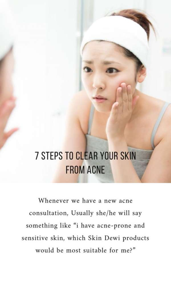 7 steps to clear your skin from acne