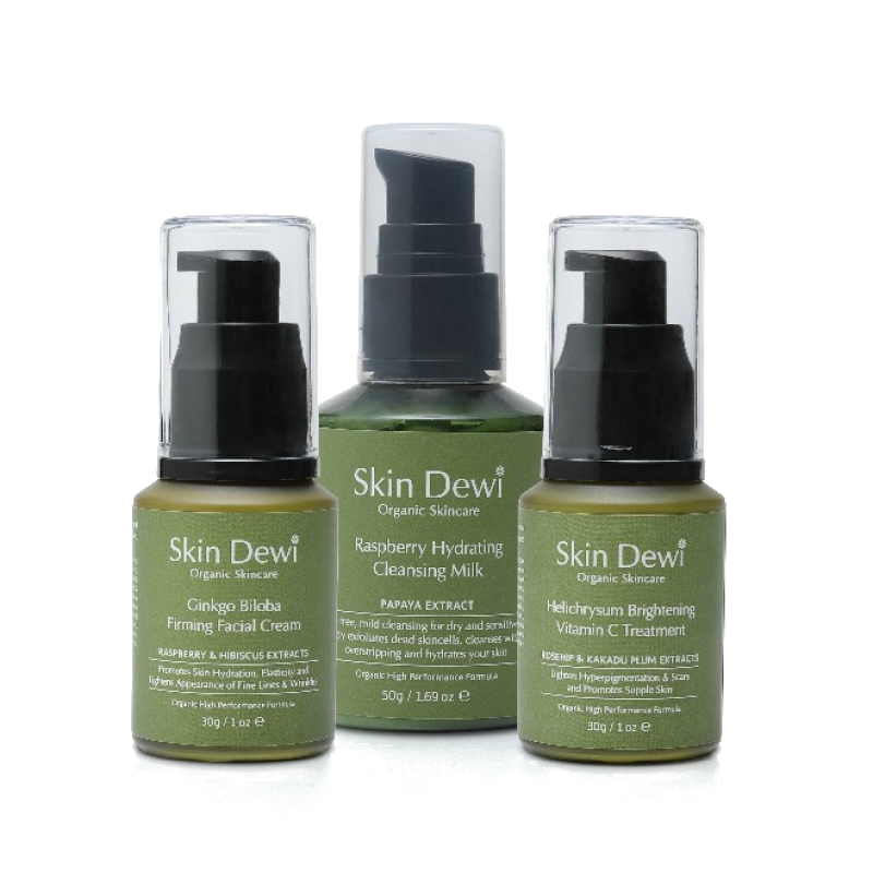 Get glowing kit for dry skin